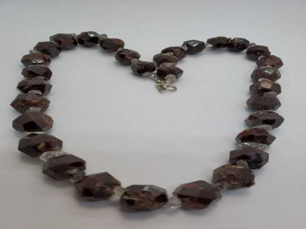 Garnet with Herkimer Diamond Necklace