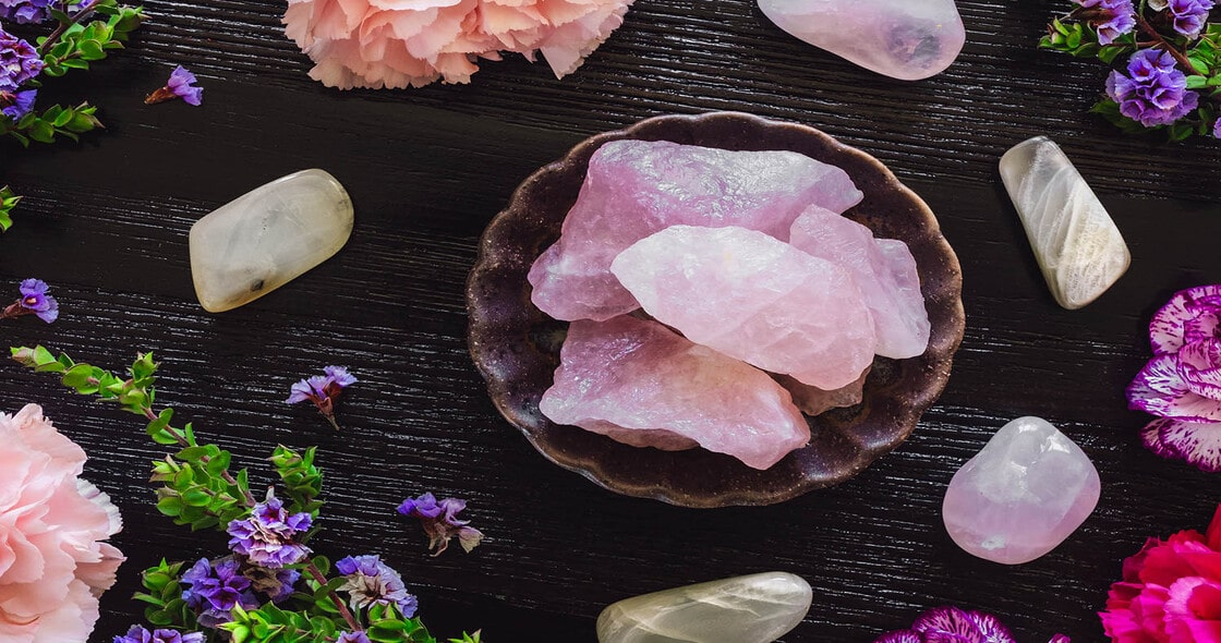 Life Healing Power with Quartzsite Minerals Crystals