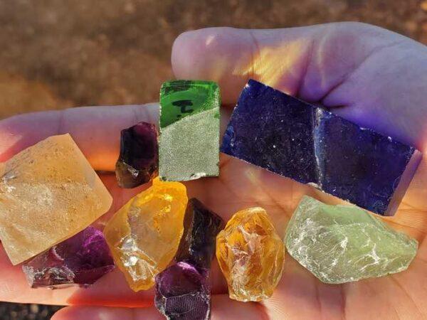 Mix Rough Faceting Stones