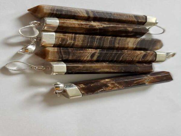 Wood Calcite Pendant