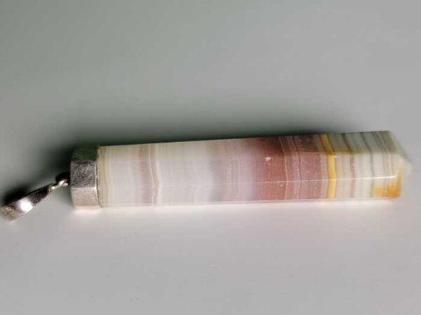 pink calcite pendant