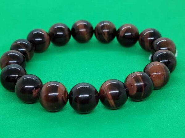 red tiger eye men's bracelet